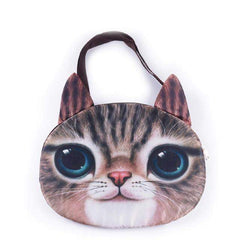 3D Cat Face Messenger bag