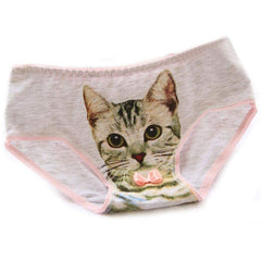 3D Printed Cat Underwear - Fashion Panties for Women