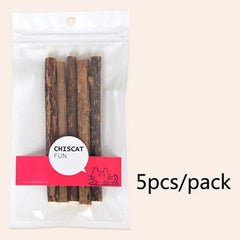 5 x Cat Teeth Cleaning - Pure natural catnip pet cat molar toothpaste sticks