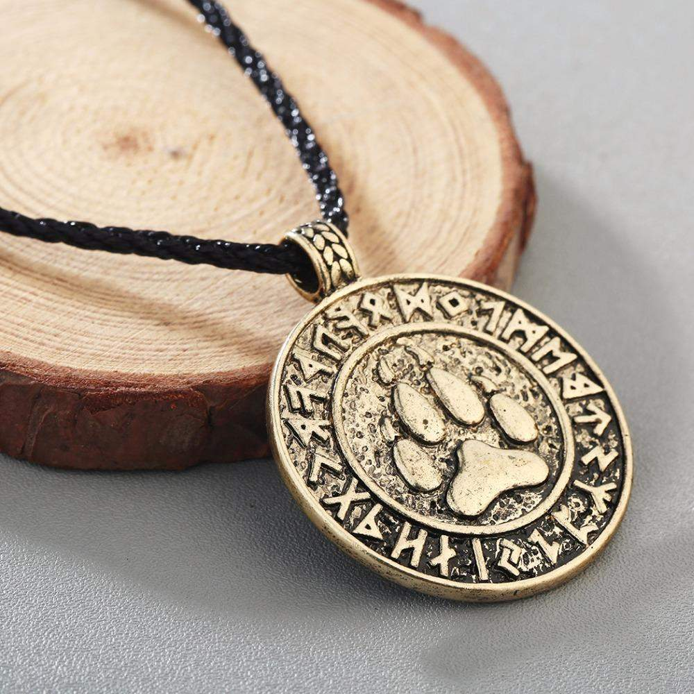 Bear Paw Amulet Pendant Necklace