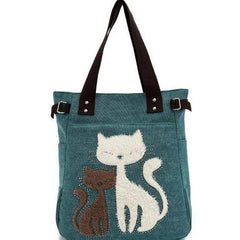 Cat Print Women Handbag