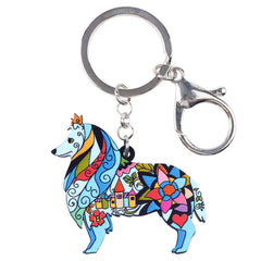 Collie Dog Keychain