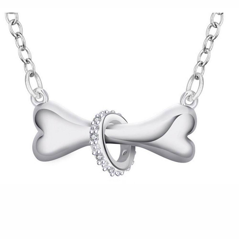 Cute Bone Ring Pendant Necklace