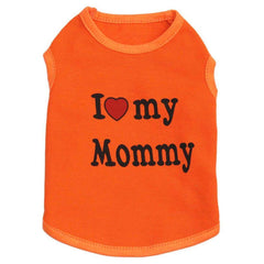 Cute I love Mommy and Daddy Shirt For Dogs