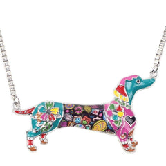 Dachshund Dog Necklace Chain Collar with Pendant