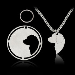 DOGGYLOVE - Beautiful necklace with 2 dog pendants