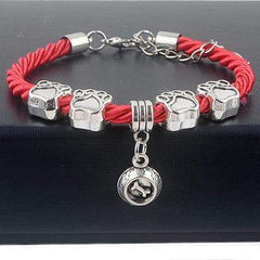 Hot Sale Fashion Hand-Woven Rope Chain Bracelets with beautiful Pet Charms