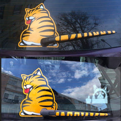 Reflective Funny Moving Tail Cat Car Stickers