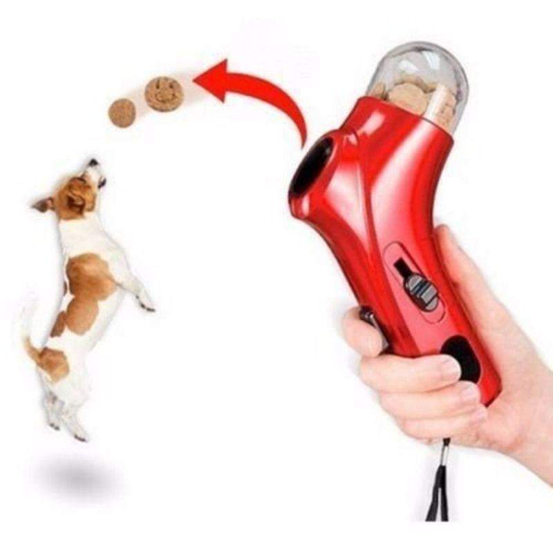 TREAT 'N' LAUNCH - Handheld Dog Treat Launcher ***HOTTEST PET FOOD TOY***