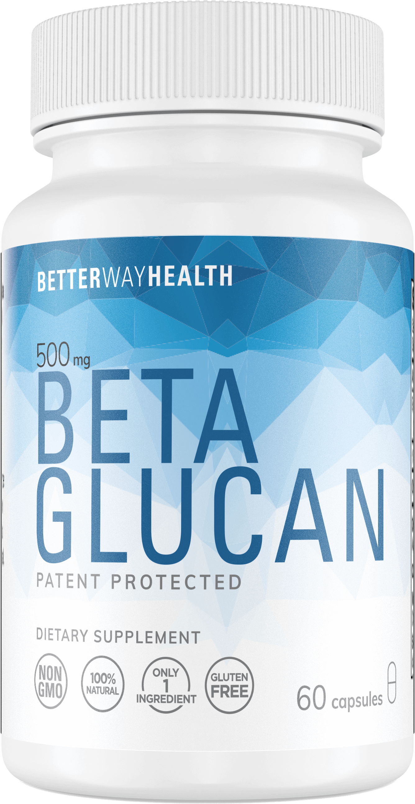 Single Better Way Health Beta Glucan 60 capsule bottle