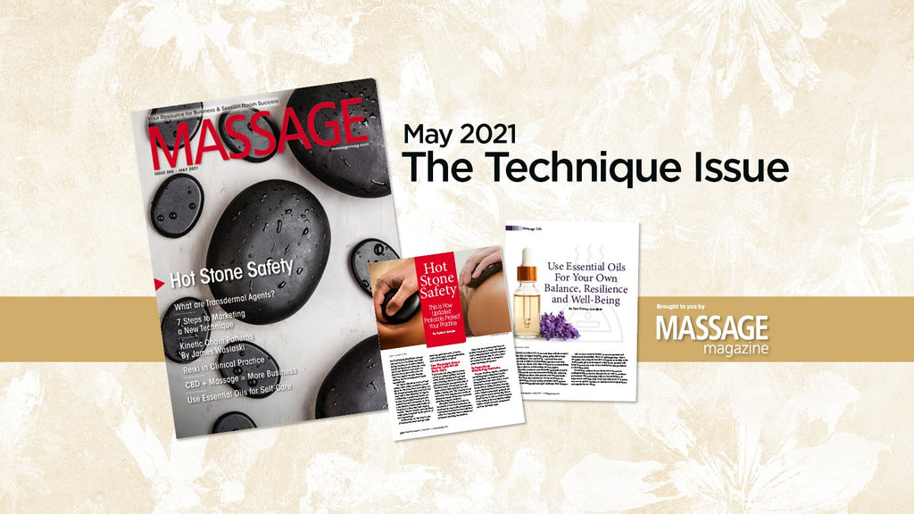 CE Institute LLC's Stone Massage Protocol Update is Featured on the Cover of MASSAGE MAGAZINE!