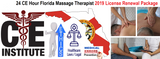 24 CE Hour Florida Massage Therapist 2019 License Renewal Package