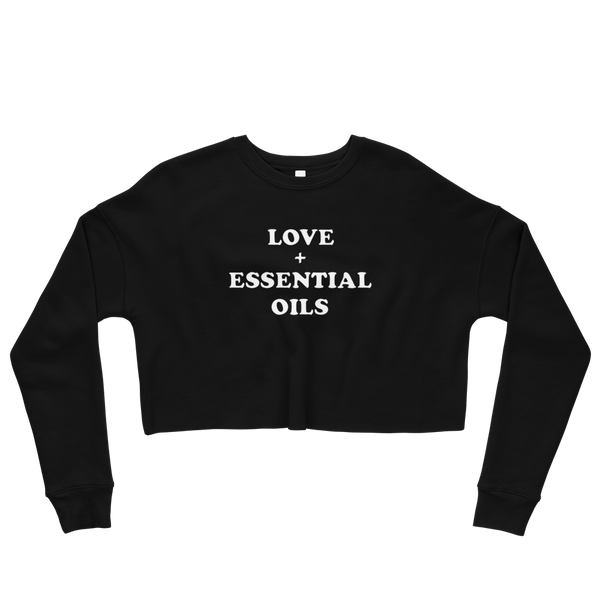 LOVE + ESSENTIAL OILS // Soft Crop Sweatshirt