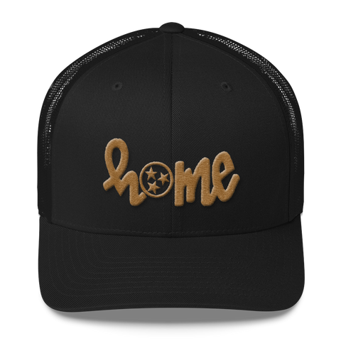 HOME tennessee // cap, gold on BLACK