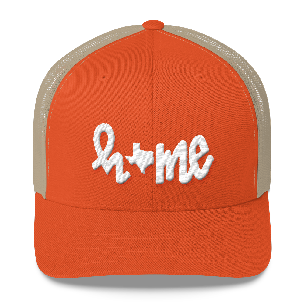 HOME texas // trucker hat, ORANGE