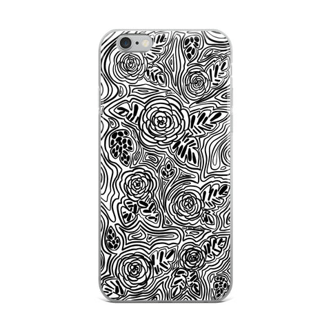 iPhone Case // B&W FLOWERS