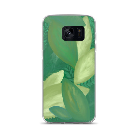 Samsung Phone Case // GREEN LEAVES