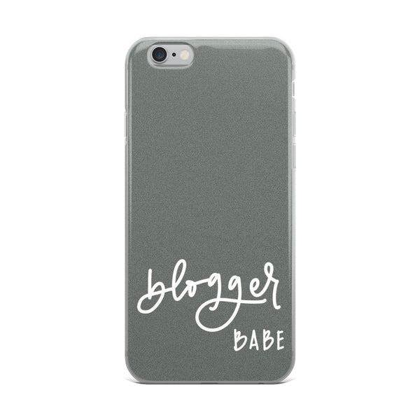 BLOGGER BABE // iPhone Case, Grey