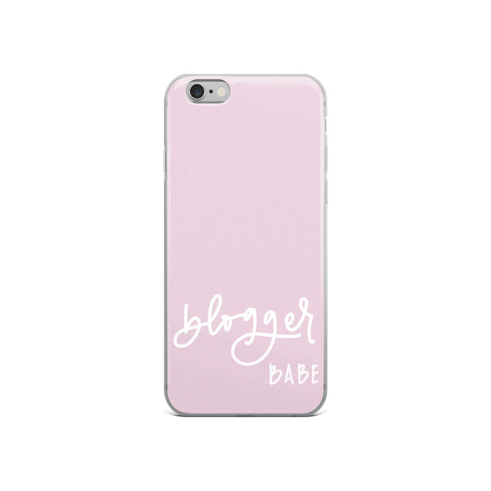 BLOGGER BABE // iPhone Case, Blush