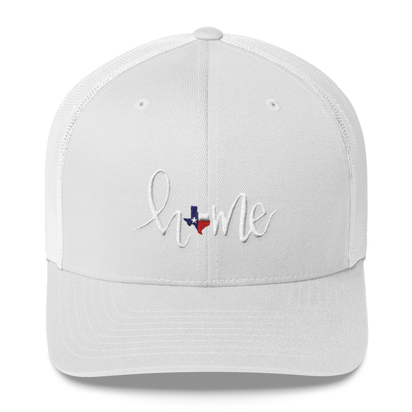 HOME texas // trucker cap RED WHITE & BLUE TEXAS