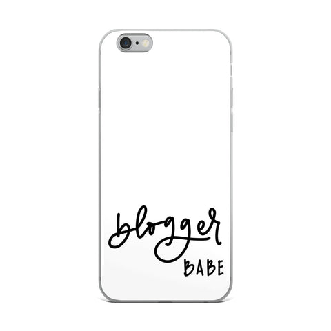 BLOGGER BABE // iPhone Case, White