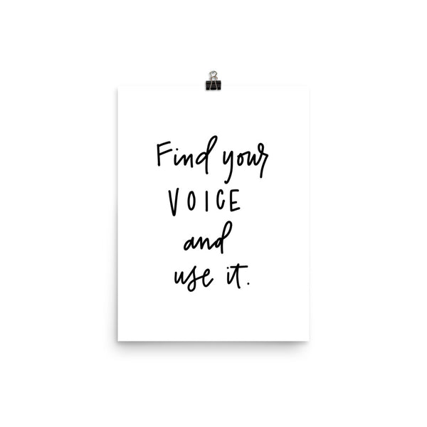 FIND YOUR VOICE // Poster