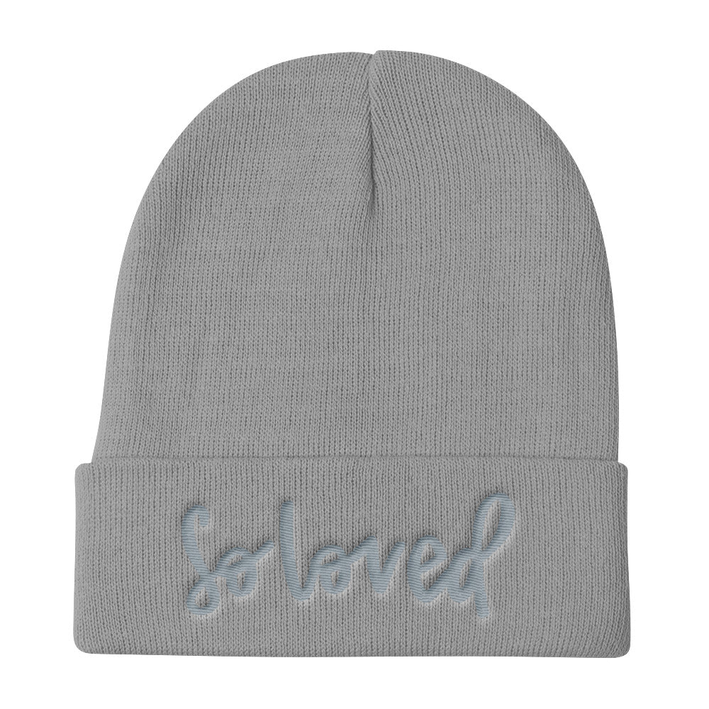 Knit Beanie // SO LOVED (grey on grey)
