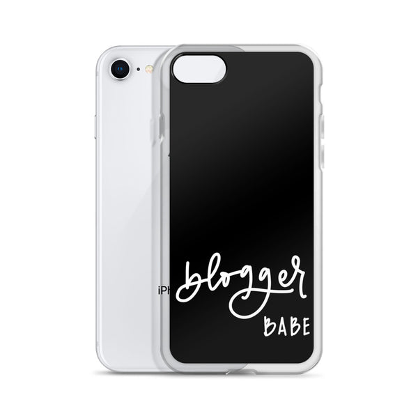 BLOGGER BABE // iPhone Case, Black