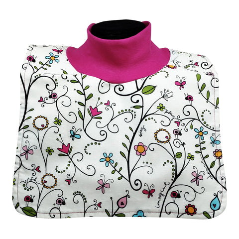 Frilly Floral w/Fuchsia Collar
