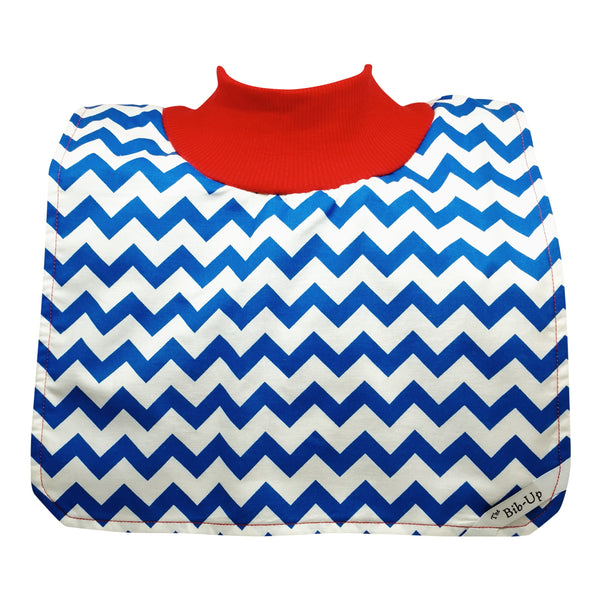 Blue & White Chevron w/Red Collar