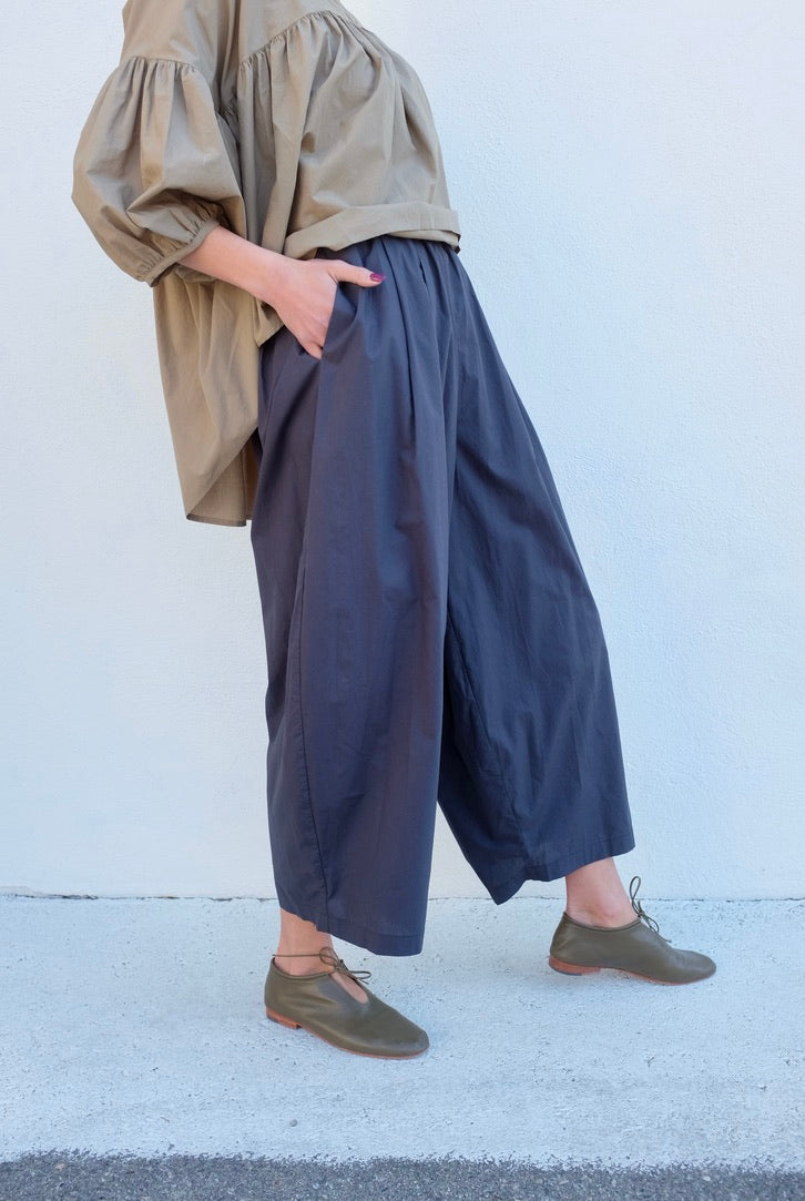 Black Crane Wide Pant / Faded Black