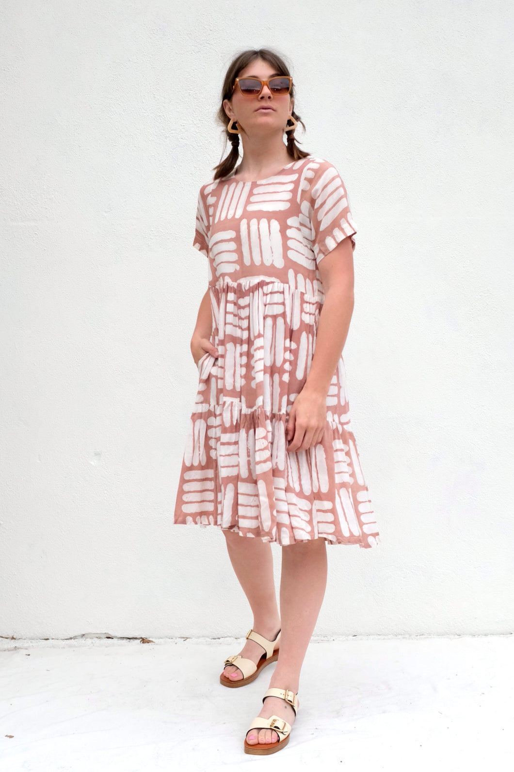 Osei Duro Layer Dress / Pink Basket