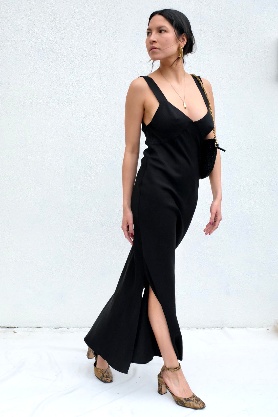 St. Agni Zoe Slip Dress / Black