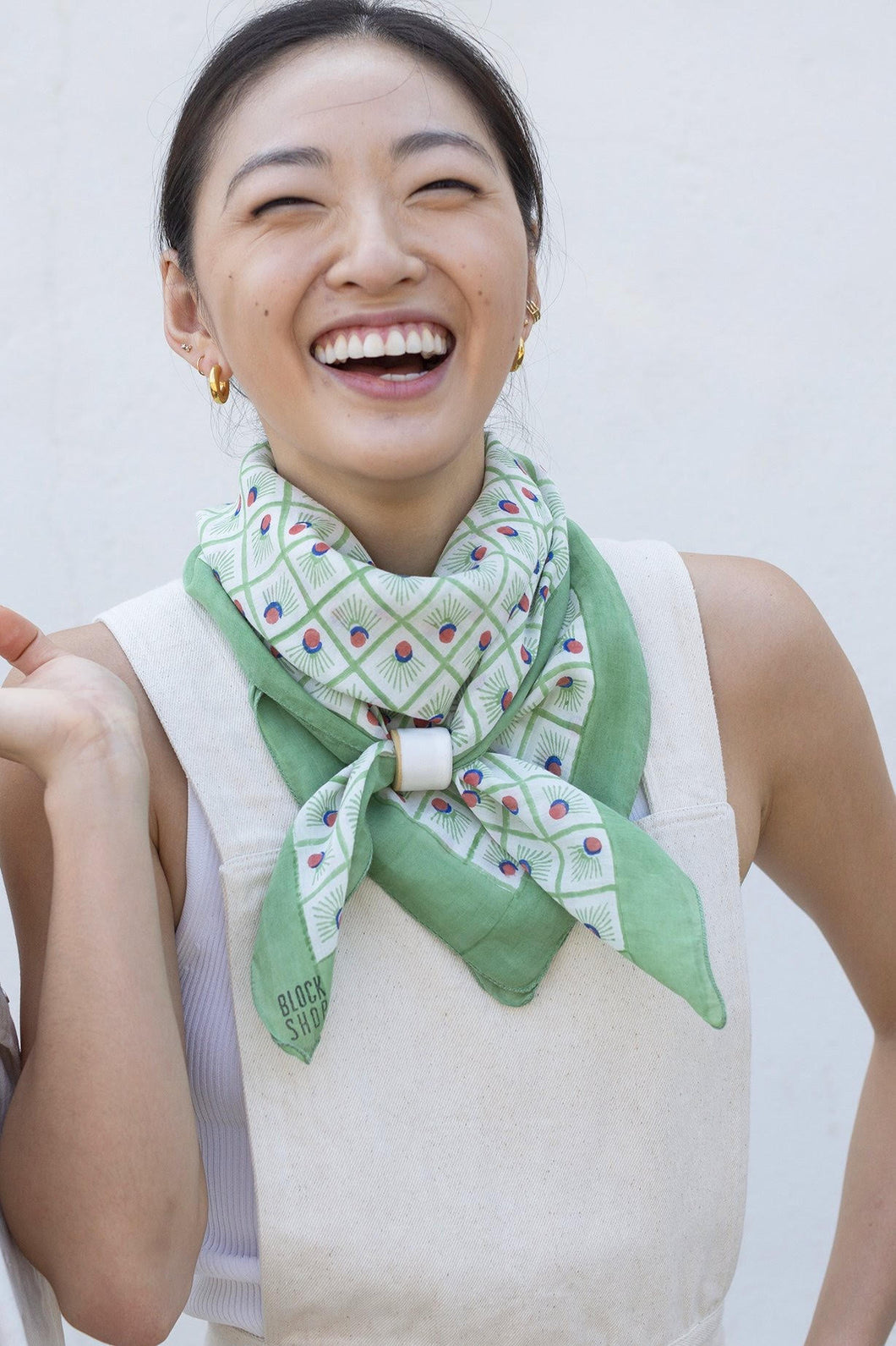 Block Shop Square Scarf Badminton / Mint