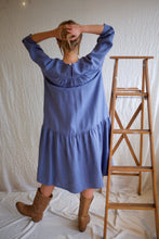 Beaton Linen June Dress / Cornflower
