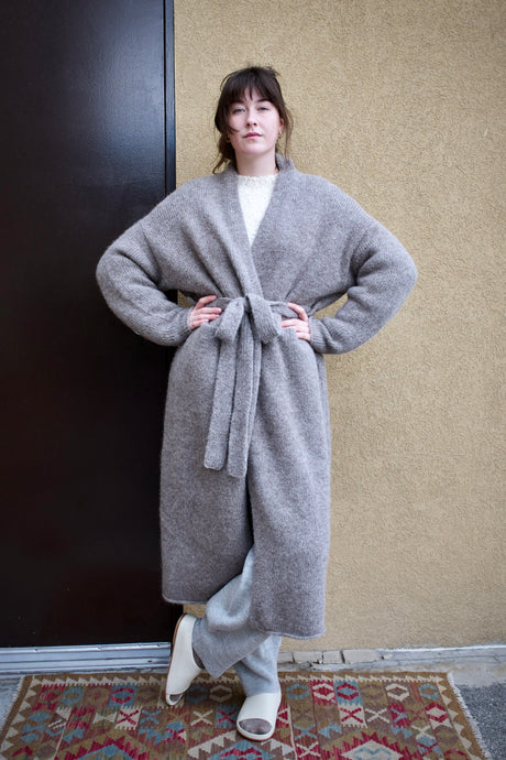 Lauren Manoogian Fluffy Robe Coat / Steel Wool