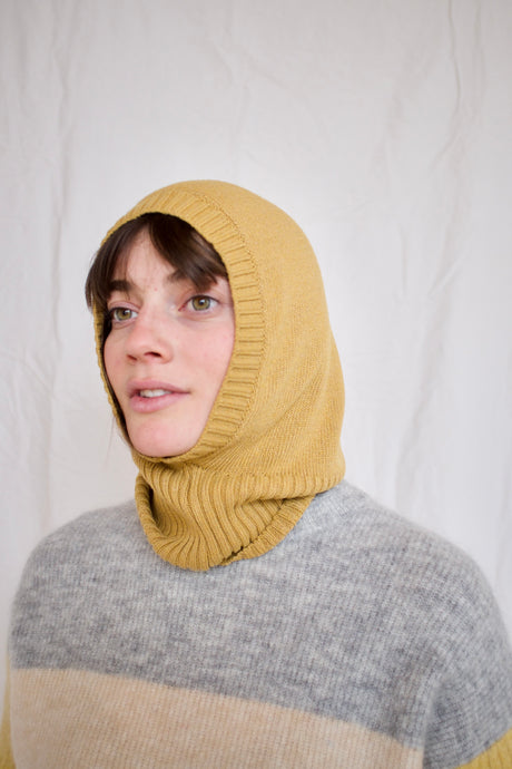 Rita Row Miley Knitted Balaclava / Mustard