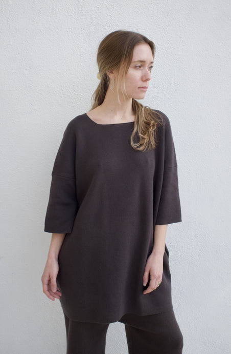 Lauren Manoogian Interlock Tee Tunic / Carbon