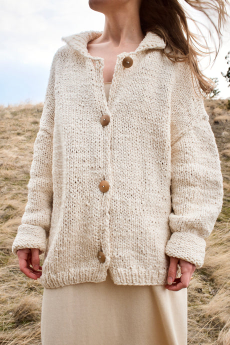 Lauren Manoogian Handknit Collar Cardigan