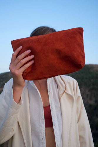 Baggu Suede Pouch / Rust