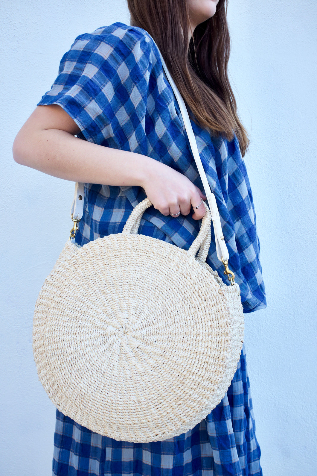 Clare V. Woven Alice Bag / Natural