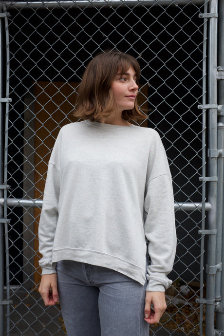 Lacausa Light Malibu Sweatshirt / Heather Grey