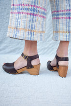 Lisa B Peep Toe Clog / Dark Brown