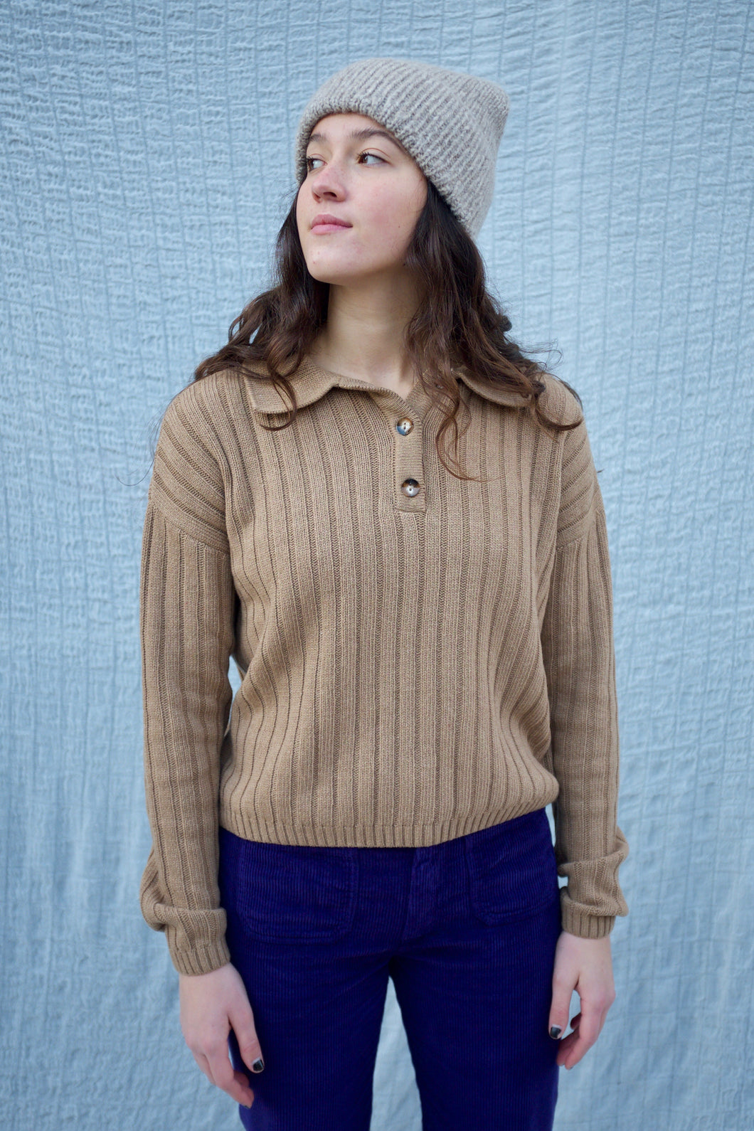 Rita Row Frida Knit Polo / Camel