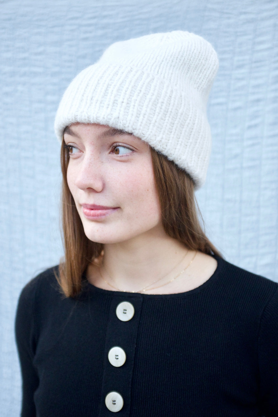 Bare Knitwear Alps Beanie / Ivory