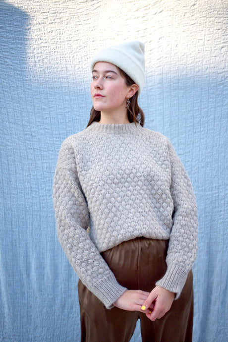 Bare Knitwear Pebble Crew / Sand