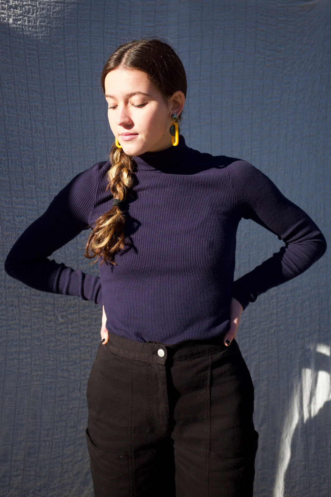 Lacausa Rib Turtleneck / Ink