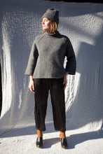 Bare Knitwear Funnel Neck Sweater / Charcoal