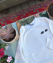 Clare V. Eyes Sweatshirt / White