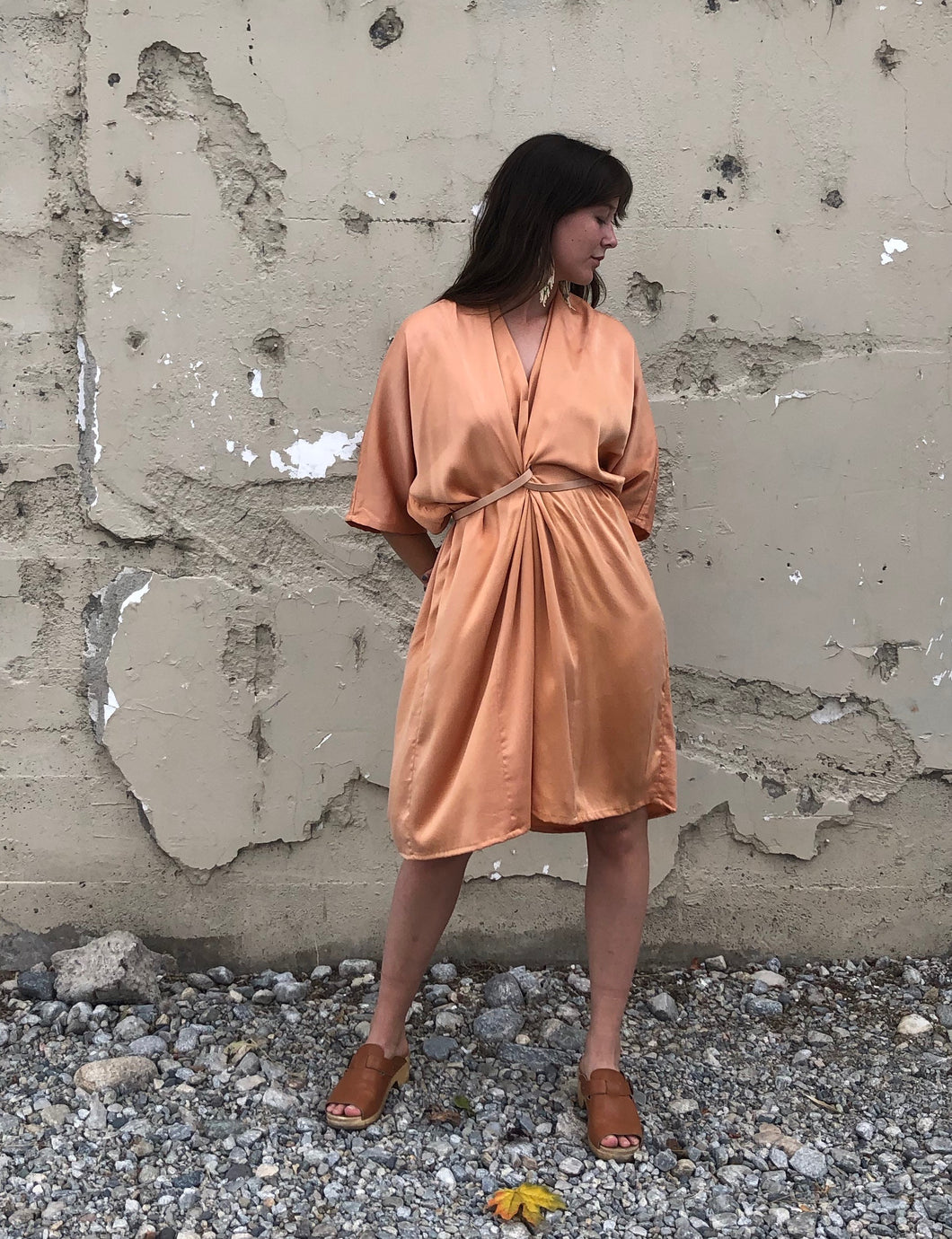 O'Keefe Dress Silk Charmeuse / Mandarin